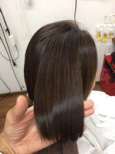 髪の毛の艶