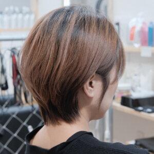 縮毛矯正仕上がりの写真