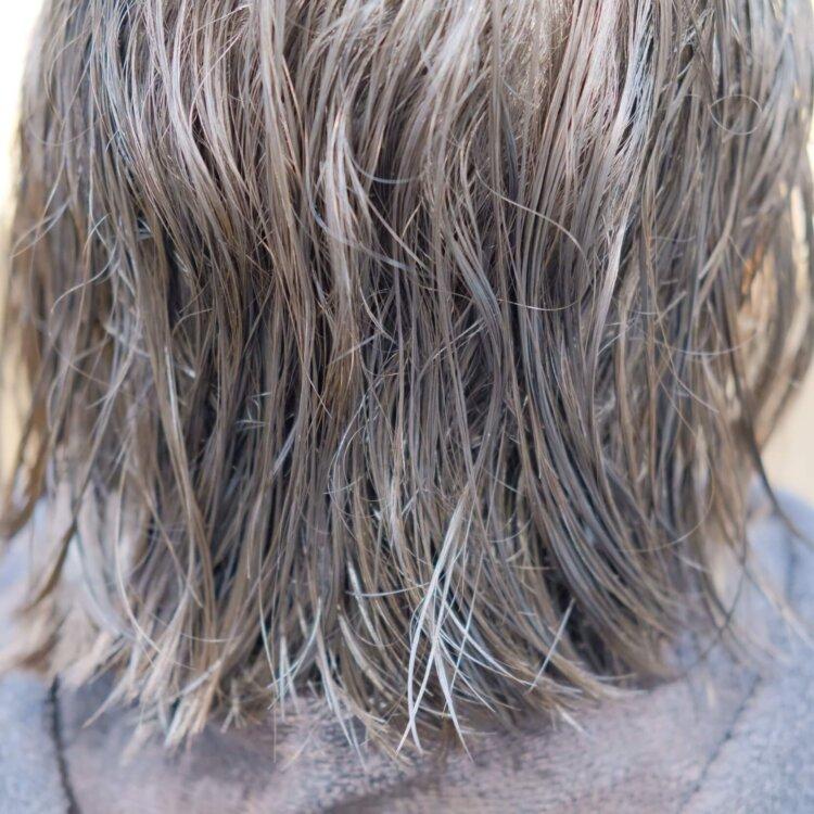 ボブのくせ毛のビフォー写真